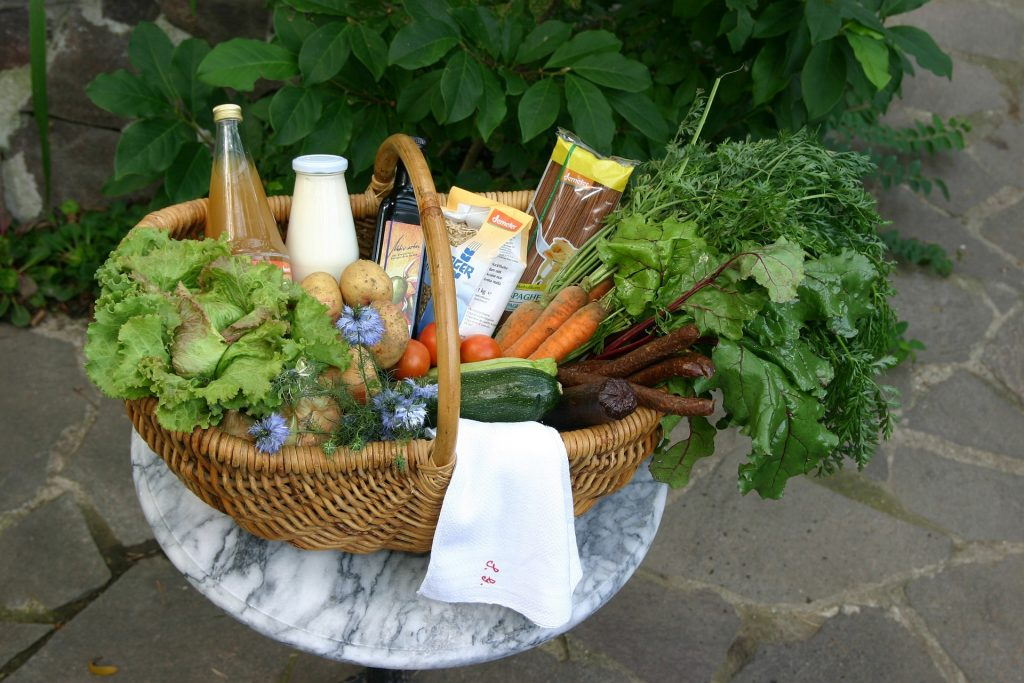 basket of summer food